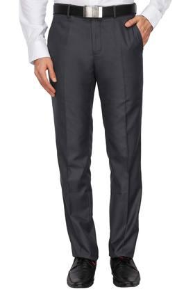 LOUIS PHILIPPE Mens 4 Pocket Slub Formal Trousers - 203698114_8497
