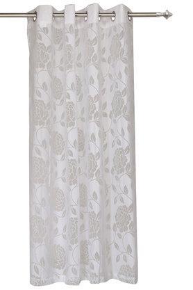 Bella Self Pattern Sheer Door Curtain