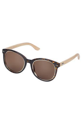 Womens Full Rim Round Sunglasses - LI069JO100R