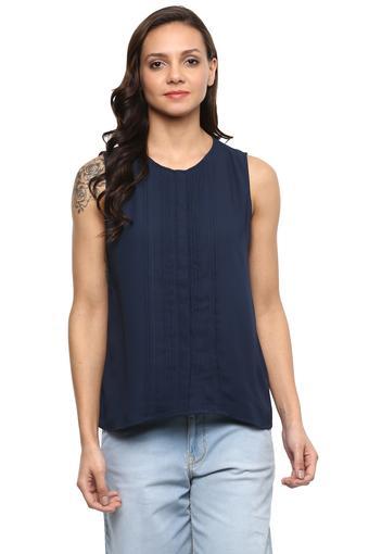 Womens Round Neck Solid Shirt