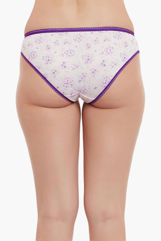 Womens Low Waist Printed Bikini Briefs