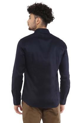 Mens Slim Fit Buttondown Collar Solid Shirt