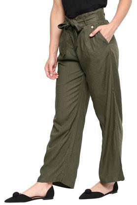 Womens 2 Pocket Slub Pants