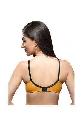 Womens Solid Non Wired Full Coverage Bra