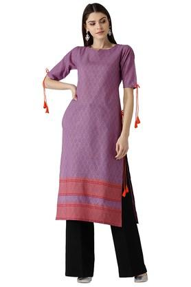 LIBAS Womens Cotton Printed Kurta - 204186370_9654