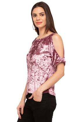 Womens Boat Neck Slub Top