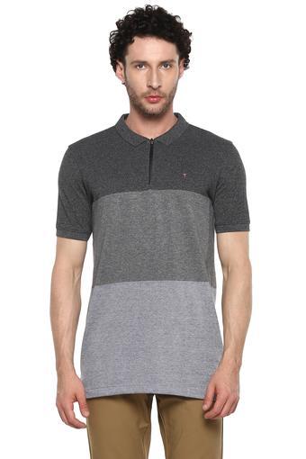 Mens Colour Block Polo T-Shirt
