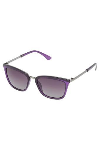Womens Full Rim Square Sunglasses