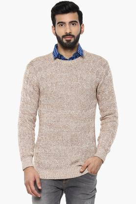 UNITED COLORS OF BENETTONMens Round Neck Knitted Sweater