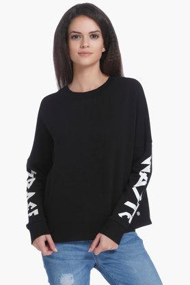 ONLY Womens Round Neck Solid Sweater