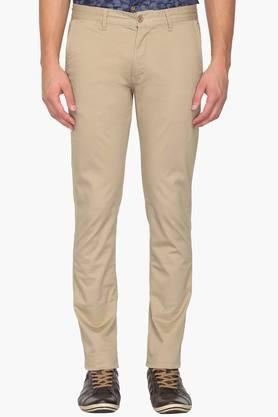 IZOD Mens Slim Fit 5 Pocket Solid Chinos