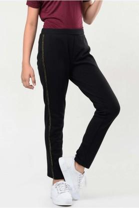 Girls Solid Track Pants