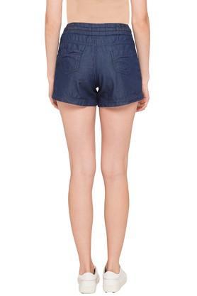 Womens 4 Pocket Coated Shorts