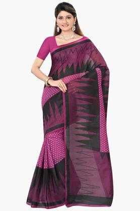 DEMARCA Womens Cotton Blend Printed Saree - 203229497