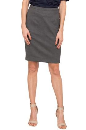 PARK AVENUE Womens Solid Casual Skirt