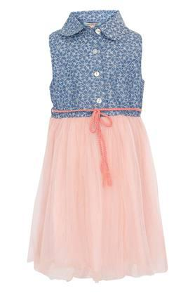 Girls Collared Assorted Layered Dress