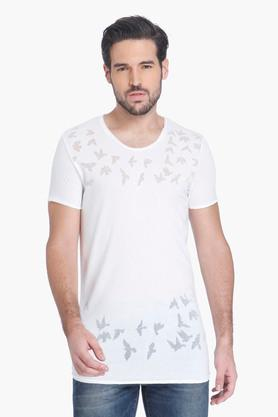 X JACK AND JONES Mens Printed Cotton T-Shirt