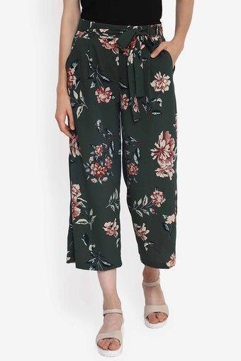 Womens Floral Print Culottes
