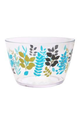 Round Foliage Printed Salad Bowl