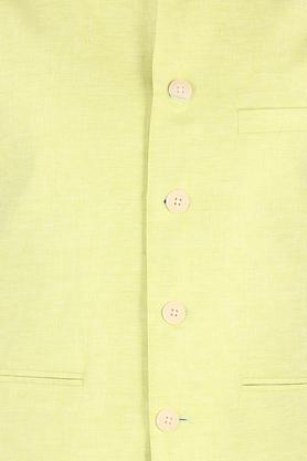 Mens Mandarin Collar Slub Nehru Jacket