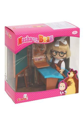 Unisex Doll with School Bench and Teaching Aids