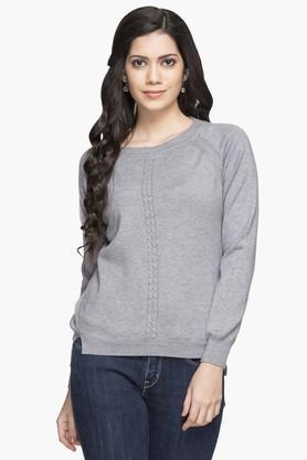 GIPSYWomens Round Neck Slub Sweater - 203397663