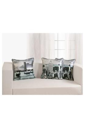 Graphic Printed Cushion Cover Set Of 5