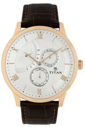 TITANMens Classique Retrogrades White Dial Multifunction Watch 90101WL01
