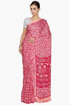JASHN Womens Paisley And Floral Printed Saree