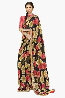 DEMARCA Womens Faux Georgette Printed Saree - 203229664