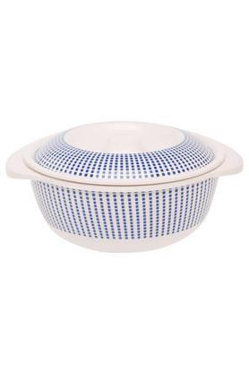 Round Geometric Printed Casserole with Lid - 6.5 inches
