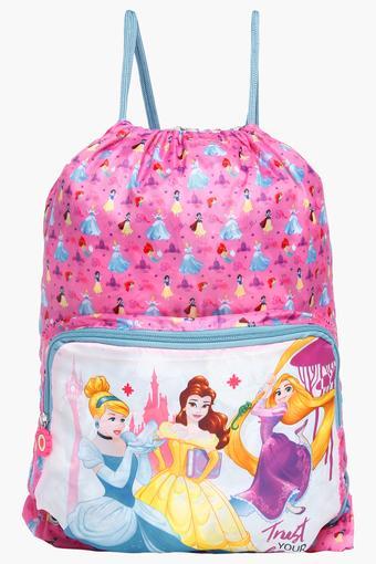 Girls Drawstring Closure Disney Princess Backpack