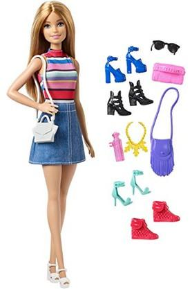 Unisex Barbie Doll with 11 Accessories Kit