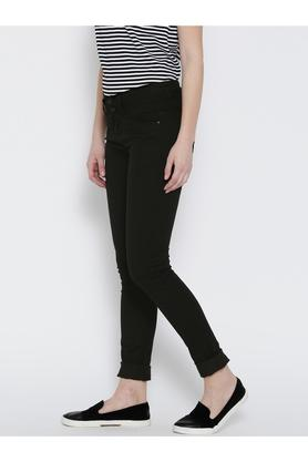 Womens 5 Pocket Skinny Fit Coated Jeans