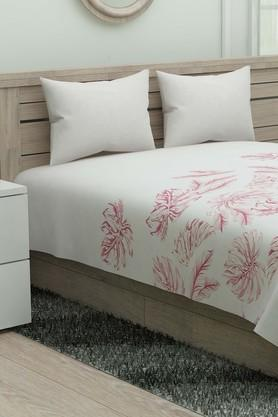 SPACES Floral Printed Single Bed Sheet With Pillow Cover - 204023117_9900