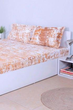 HOUSE THISPrinted Double Bed Sheet With 2 Pillow Covers - 203275937_9111