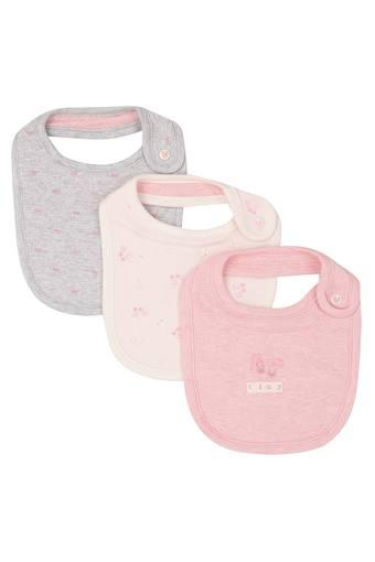 Girls Printed Bib - Pack Of 3