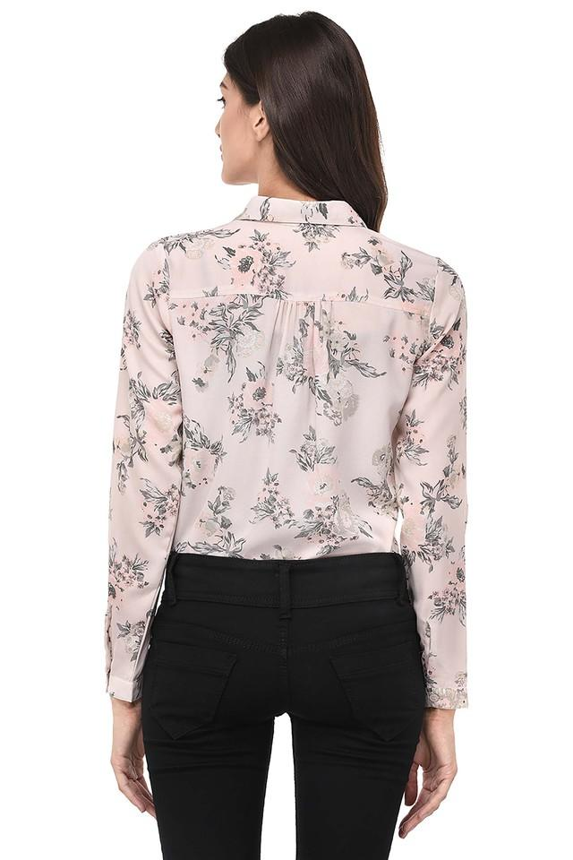 Womens Floral Print Casual Shirt