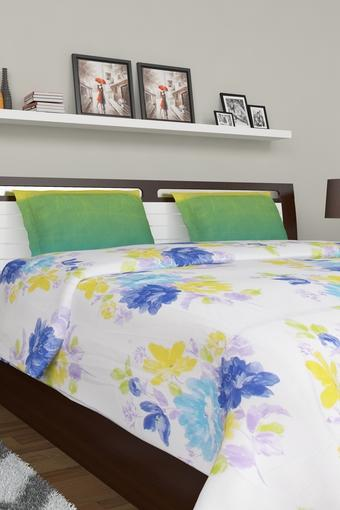 Bed In A Bag Floral Printed Double Bed Sheet Pillow Cover and Quilt Set