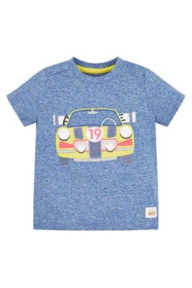 Boys Round Neck Embroidered Tee