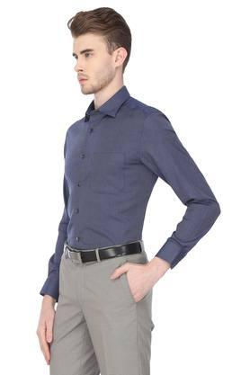 Mens Classic Fit Slub Formal Shirt