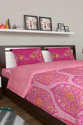 PORTICO Floral Print Double Bedsheet With 2 Pillow Covers - 203359112_9900