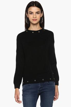 PEPE Womens Round Neck Knitted Sweater