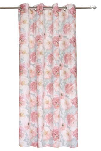 Floral Printed Black Out Dupion Door Curtains