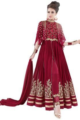 DEMARCAWomens Georgette Dress Material - 203984125_9612