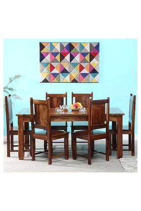 Brown Toby 6 Seater Dining Set