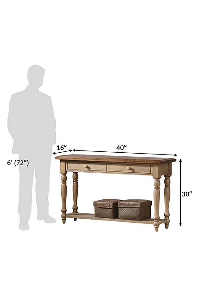 Brown Leann Console Table