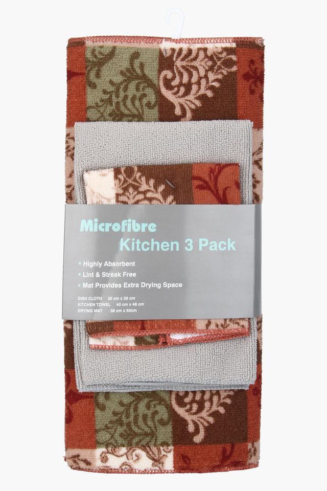 Printed Kitchen Dish Cloth Set of 3