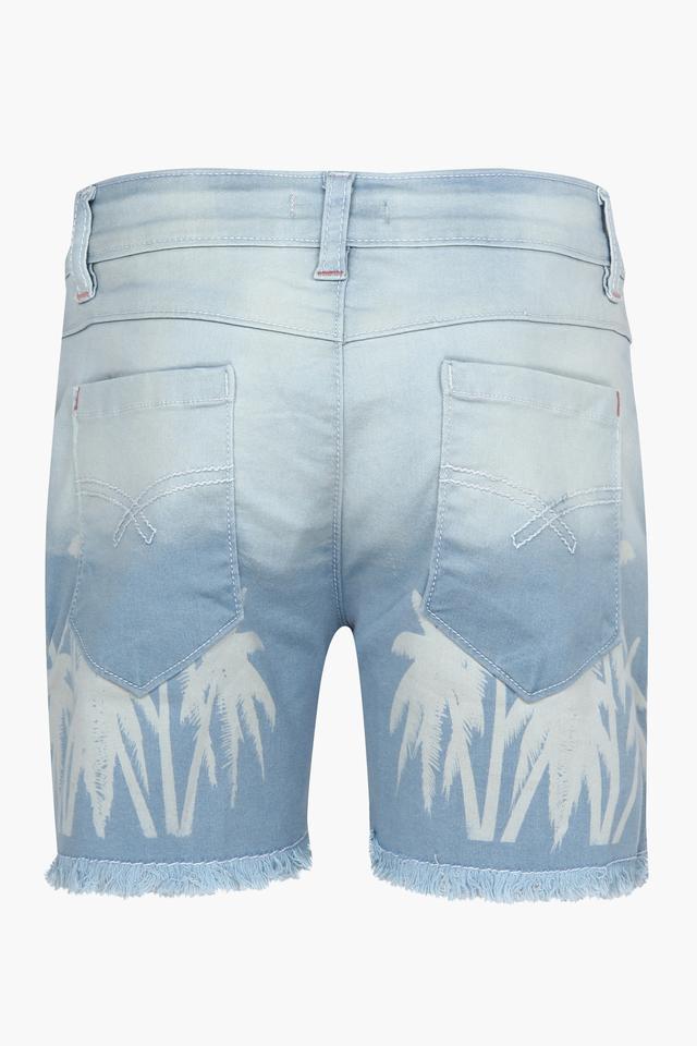 Girls 5 Pocket Printed Shorts