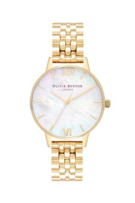 Womens Mother of Pearl Dial Stainless Steel Analogue Watch - OB16MOP01W